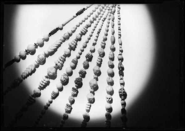 Jewelry, Southern California, 1932