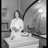 """Anne Martin cooking with """"Formay"""" demonstration, Southern California, 1933"""