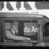 Mr. Penn of Santa Ana endorses Shell gas, Southern California, 1933