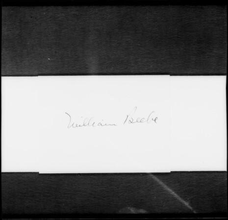 Signature, William Beebe, Southern California, 1932