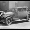 Mr. Parks' car, Parks injured, Southern California, 1932