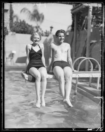 Ozzie Nelson & Harriet Hilliard at Ambassador, Los Angeles, CA, 1935