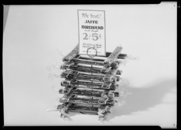 Horehound candy, Southern California, 1934