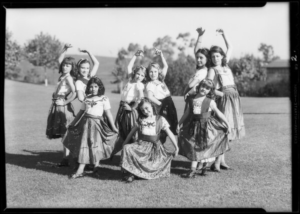 Mexican dancers for Rose Bowl festival, Southern California, 1932