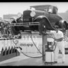 Man operating 'Hi Klonic' machine, Southern California, 1933