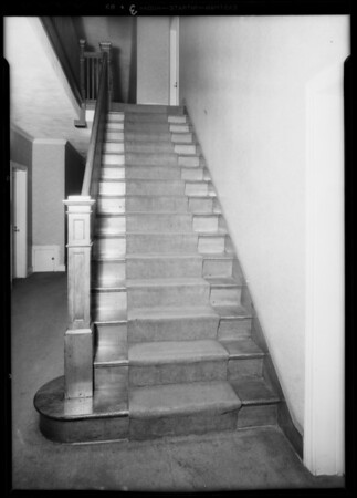 Stairs, Alcazar apartments, Turner vs. N.S. building & loan, Southern California, 1932