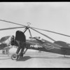 Autogiro at air races, Southern California, 1933