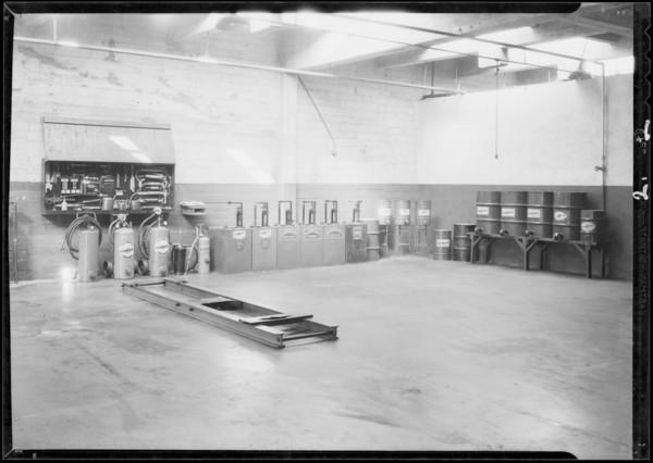 Biltmore Garage, lubricating department, Southern California, 1931