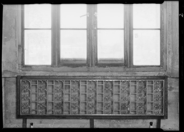 Iron grill work at County Hospital, Los Angeles, CA, 1932