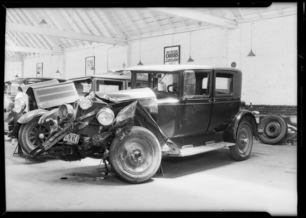 Packard sedan, Miles W. Blaine, owner, case #795495, Southern California, 1932