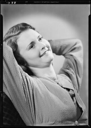 Portrait of Jane Jackie, Southern California, 1933