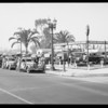 Used car parade at Fortner's, Southern California, 1934