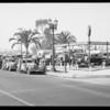 Used car parade at Fortner's, Southern California, 1934