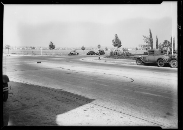 Intersection, 9th [East Olympic Boulevard] and Goodrich Boulevard, East Los Angeles, CA, 1932