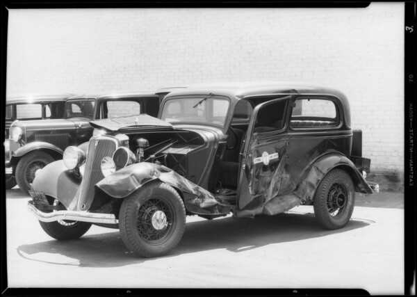 United Air Lines Ford in Glendale, United Air Lines vs. Los Angeles Implement, Glendale, CA, 1933