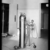 Anesthetic machine for Dr. Holzman, Southern California, 1932