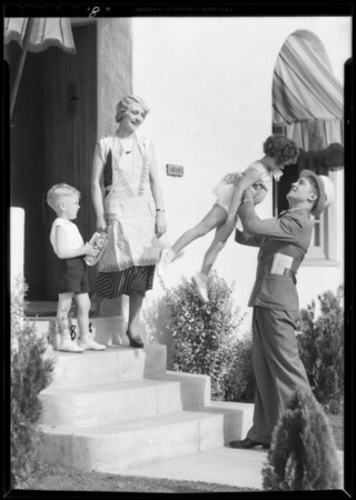 Family group on doorstep, Southern California, 1932