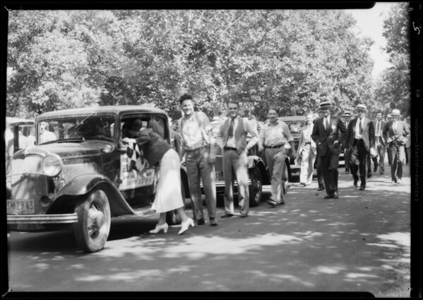 Finish of Eddie Pullen Ford run, Southern California, 1932