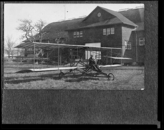Old aeroplane photos, Southern California, 1933