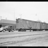 Hudson pulling freight cars, Southern California, 1934