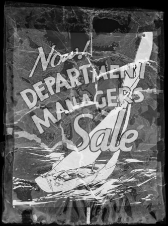 Poster 'Department Managers' Sale', Southern California, 1933
