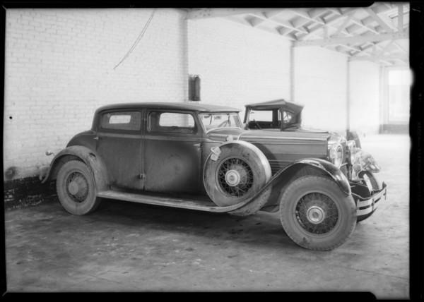 Wrecked Stutz - H. S. Krutzen, owner and assured, Southern California, 1935