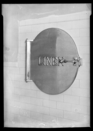 Installation, County Hospital, linen chutes, Los Angeles, CA, 1932