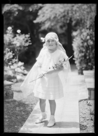 Daughter in veil, Southern California, 1931