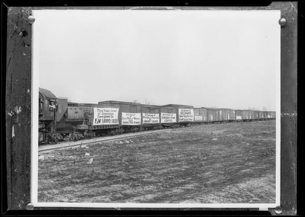 Train, after retouching, Southern California, 1932