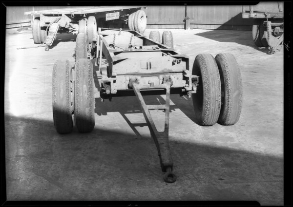 Trailer belonging to R.J. Banfill, 1100 East 5th Street, Los Angeles, CA, 1931