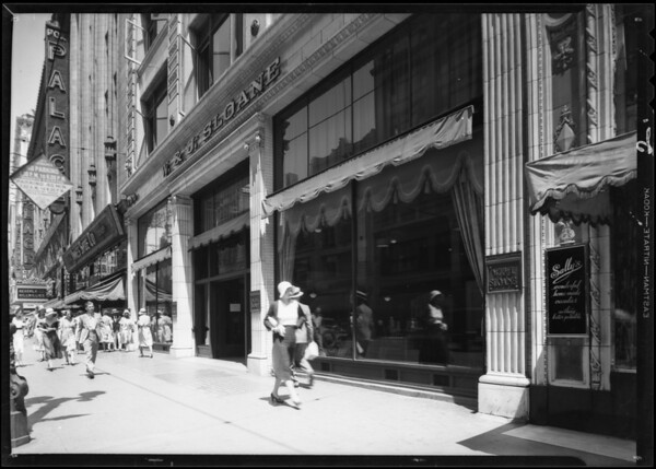 Exterior of store, 644 South Broadway, Los Angeles, CA, 1931