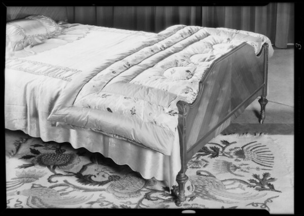 China & blankets & comforters, The May Company, Southern California, 1931