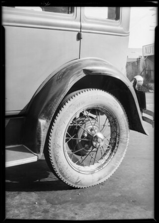 Ford sedan, Chester Sherwood, assured, Southern California, 1931