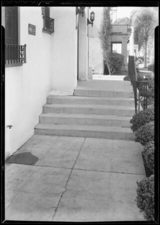 Steps, Pearl apartments, 307 South Boyle Avenue, Los Angeles, CA, 1933