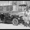 Mr. Lansing & Mr. Spaulding with old Flanders car, Southern California, 1935