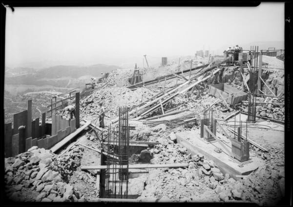 Progress at planetarium, Southern California, 1933