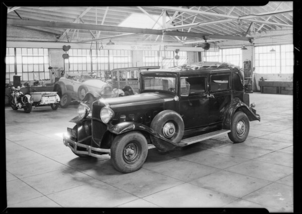 1930 Hudson, J. Gilbert Frye, assured, Southern California, 1933