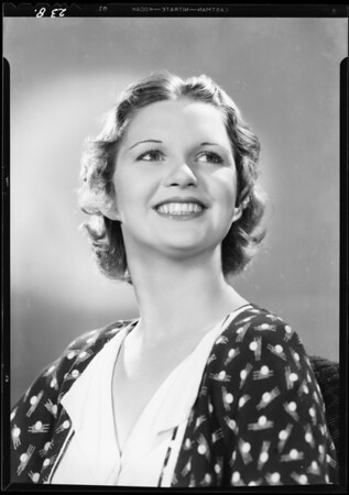 Portrait of Lorraine Cook, Southern California, 1933