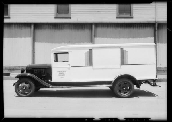 Continental Baking truck, Southern California, 1933