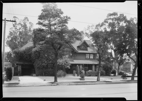 Exterior views of mortuary parlors, Southern California, 1932