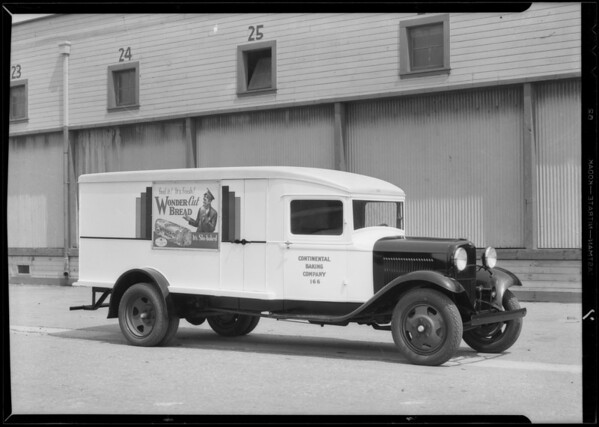 Continental Baking Co. truck, Southern California, 1932