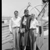 Passengers and Captain Canepa, Steamship California, Southern California, 1931