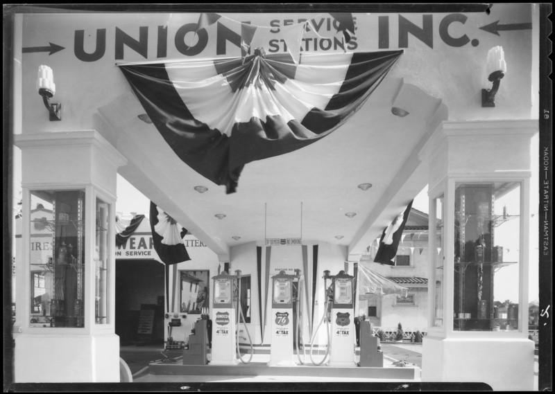 New station - West 3rd Street & Serrano Avenue, Los Angeles, CA, 1933