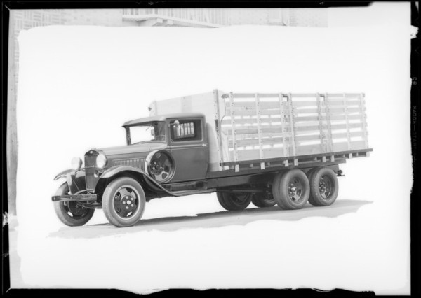 Stake body Ford truck, Southern California, 1931