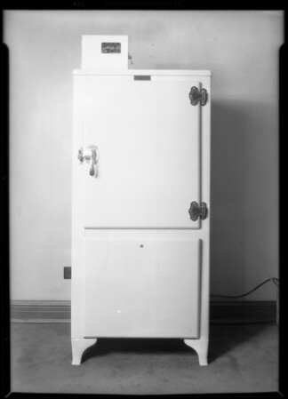 Meter on refrigerator, Southern California, 1931