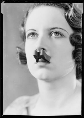 Form-o-lip on model, Southern California, 1932