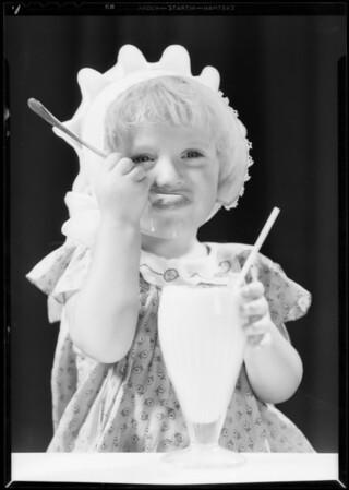 Child & ice cream soda, Southern California, 1932