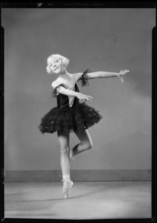 Pupils in dance poses, Southern California, 1931