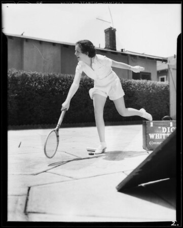 Tennis player, Southern California, 1933