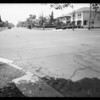 Intersection West 3rd Street and South Serrano Avenue and cars wrecked, Southern California, 1932